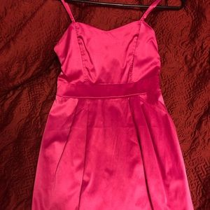 Cocktail magenta prom dress